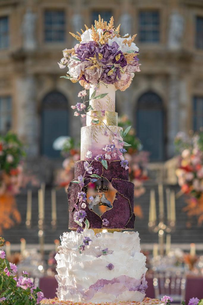 Wedding Cake d'Exception, Haut de Gamme, Château de Vaux le Vicomte, Bouchra Sugar Designer