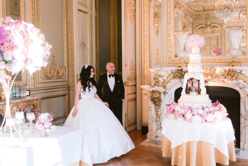Luxury Wedding Cake in Shangri La, Paris,  Bouchra Sugar Designer
